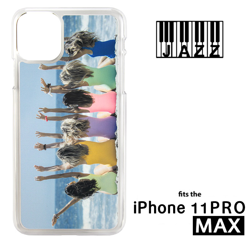 iPhone® 11 Pro Max Jazz™ Sublimation Blank Plastic Case - Clear w/ Aluminum Insert