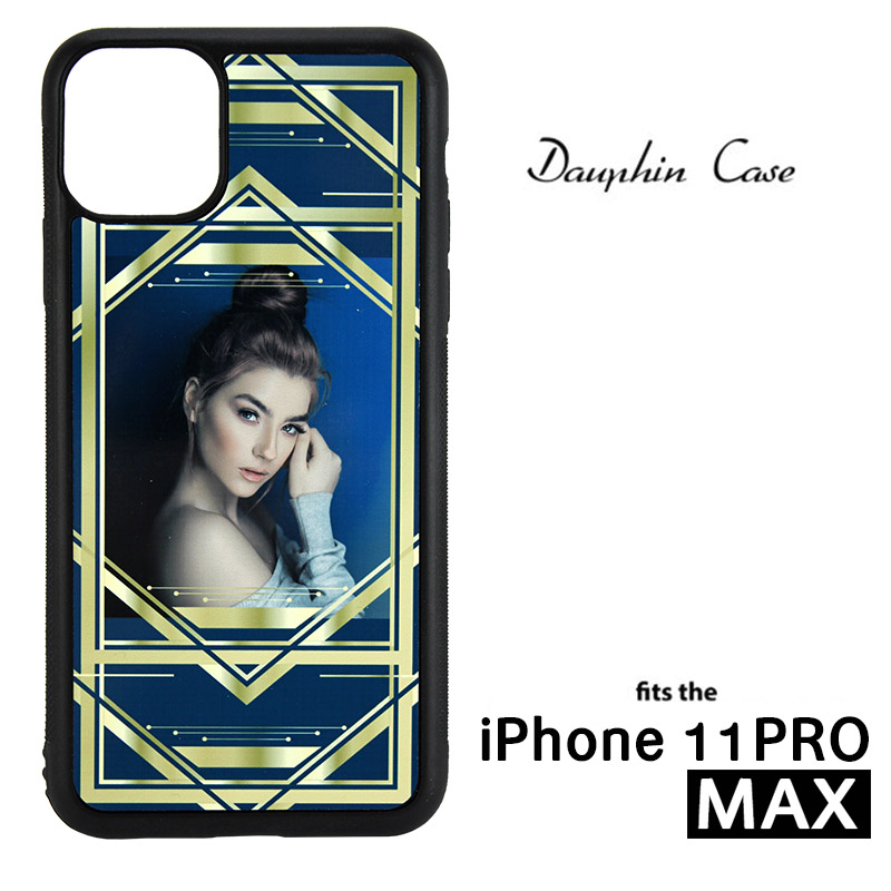 iPhone® 11 Pro Max Dauphin™ Sublimation Blank Rubber Case - Black w/ Aluminum Insert