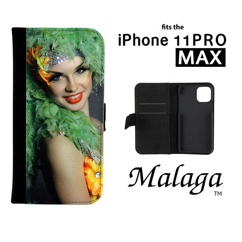 iPhone® 11 Pro Max Malaga Notebook Sublimation Blank Case - Black