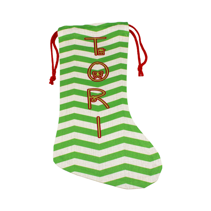 DyeTrans Sublimation Blank Linen Holiday Stocking - 11