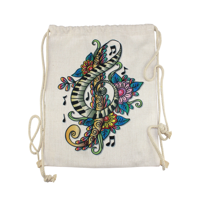 15.5x11.5 PolyLinen™ Drawstring Backpack