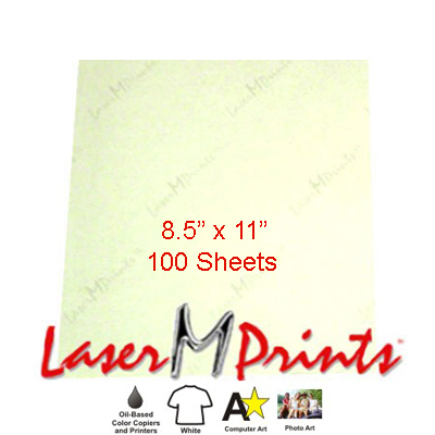 8.5x11 LaserMPrints CL Transfer Paper - 100 Sheets