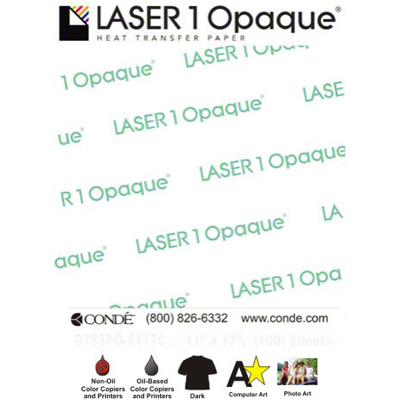 8.5x11 Laser1 Opaque Heat Transfer Paper