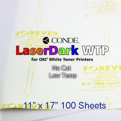 11x17 Forever Low Temp Laser-Dark Transfer Paper