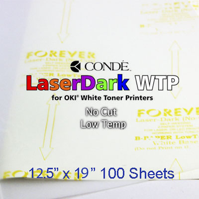 12.5x19 Forever Low Temp Laser-Dark Transfer Paper