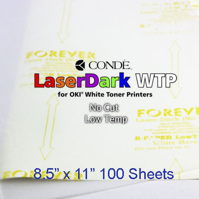 8.5x11 Forever Low Temp Laser-Dark Transfer Paper