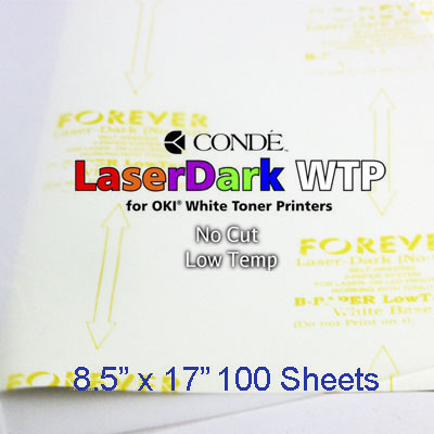 8.5x17 Forever Low Temp Laser-Dark Transfer Paper