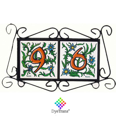 DyeTrans® Black Wrought Iron Tile Frame