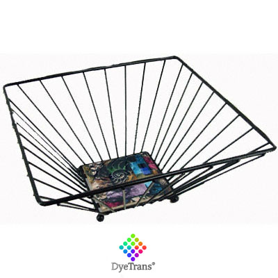 DyeTrans Wrought Iron Basket- Small for 4 Tile