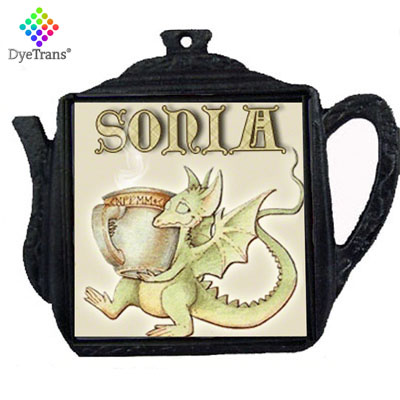 DyeTrans® Black Iron Metal Teapot Trivet