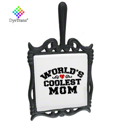DyeTrans® Black Wrought Trivet, Square