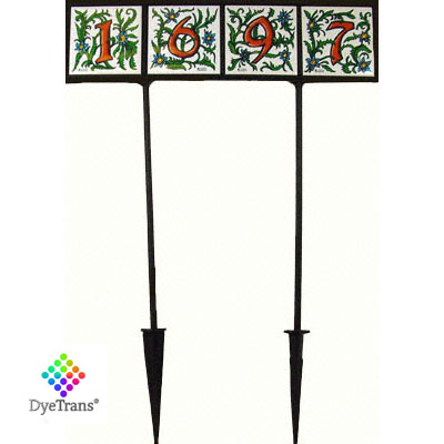 DyeTrans® Black Wrought Iron Garden Stake
