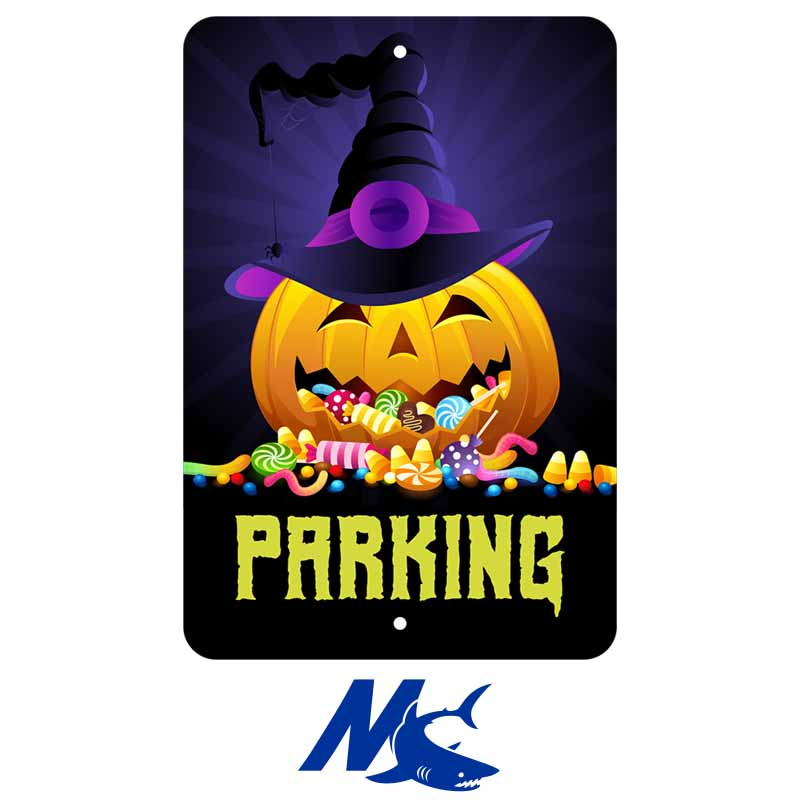 Mako™ Sublimation Blank Aluminum Parking Sign - 8 x 12 - Gloss White - 2 Holes