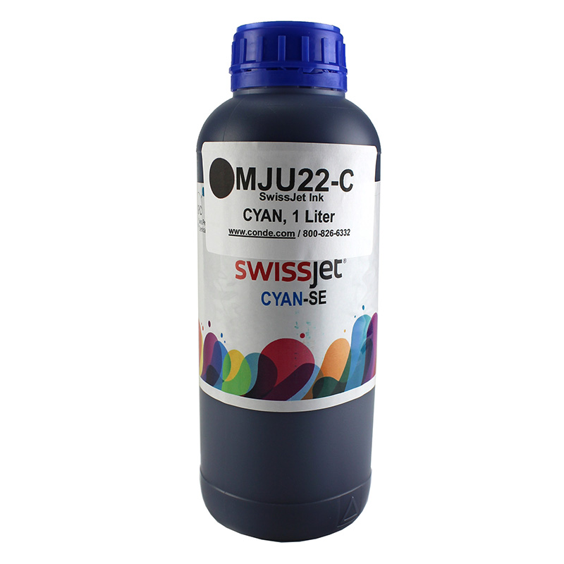 SwissJet™ Sublimation Ink Bottle - Cyan - 1 Liter