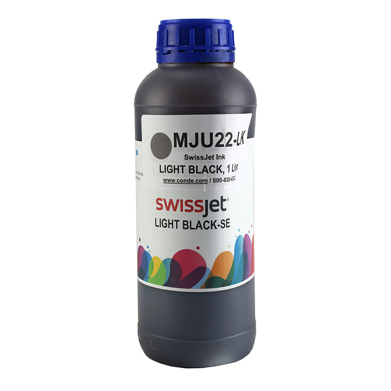 SwissJet™ Sublimation Ink Bottle - Light Black - 1 Liter