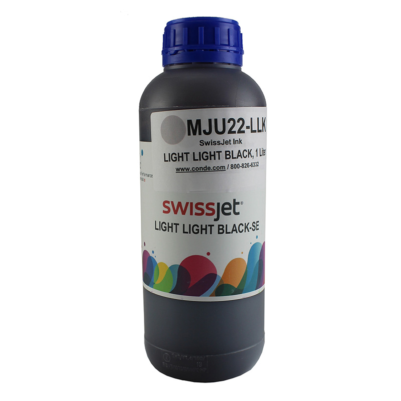 SwissJet™ Sublimation Ink Bottle - Light Light Black - 1 Liter
