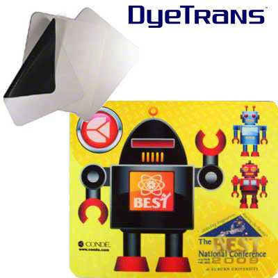 DyeTrans Sublimation Blank Mousepad Material - 1.5mm - Black-Backed - By the Yard