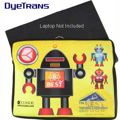 DyeTrans Sublimation Blank Neoprene Laptop Sleeve w/Zipper - 10.8 x 14.2 - 2-Sided