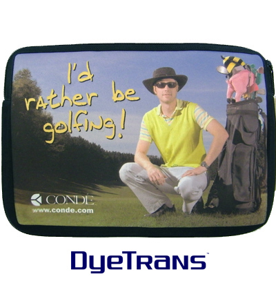 DyeTrans Sublimation Blank Neoprene Laptop Sleeve w/Zipper - 7
