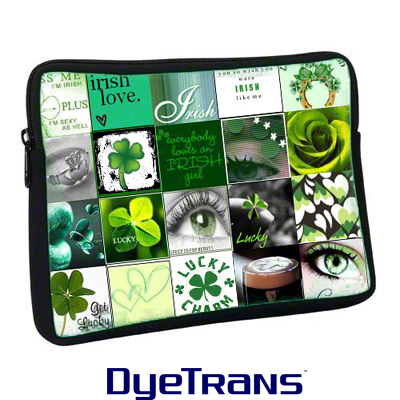 DyeTrans Sublimation Blank Neoprene Laptop Sleeve w/Zipper - 13.5 x 17.3125 - 1-Sided