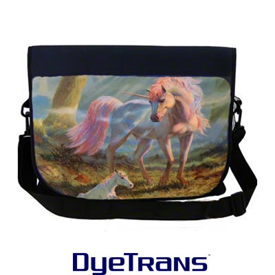 DyeTrans Sublimation Blank Neoprene Laptop Shoulder Bag w/Removable Flap - 12