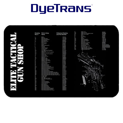 DyeTrans Sublimation Blank Counter Mat - 14 x 24 x 1.5mm Black Backed