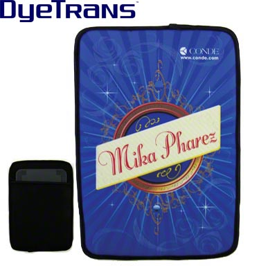 DyeTrans Sublimation Blank Neoprene iPad Mini Sleeve - 5.3 x 8