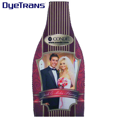 DyeTrans Sublimation Blank Neoprene  Wine Bottle Sleeve
