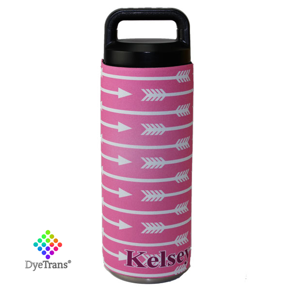 DyeTrans Sublimation Blank Neoprene Hugger - Fits Yeti 18oz Rambler Bottle