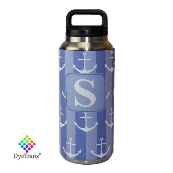 DyeTrans Sublimation Blank Neoprene Hugger - Fits Yeti 36oz Rambler Bottle