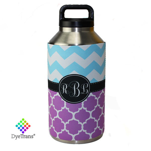 DyeTrans Sublimation Blank Neoprene Hugger - Fits Yeti 64oz Rambler Bottle