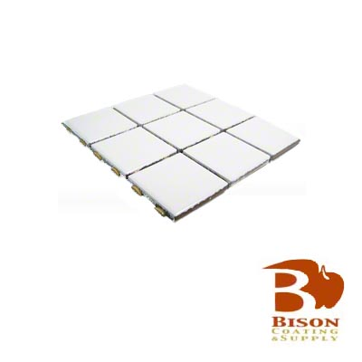 2x2 Tiles - 6 Sheets 9 Tiles - Gloss White