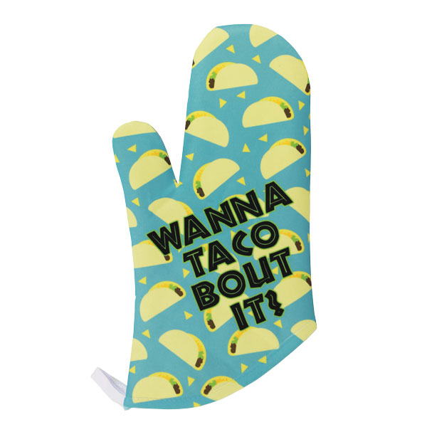 Sublimation 12x7 DyeTrans Oven Mitt - Flat White