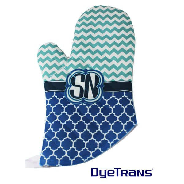 Sublimation 12x7 DyeTrans Oven Mitt -Quilted White