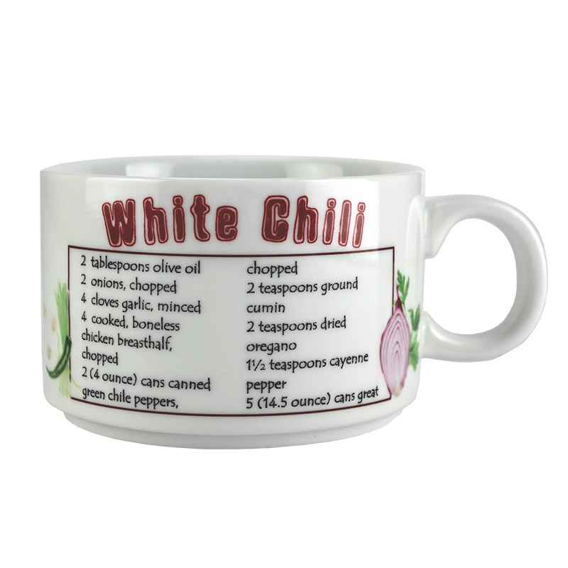 Sublimation Blank Ceramic Soup Mug