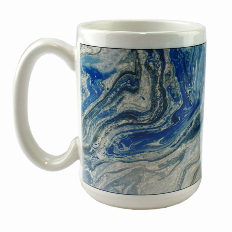 DyeTrans Sublimation Blank Ceramic Mug - Made In USA - 15 oz