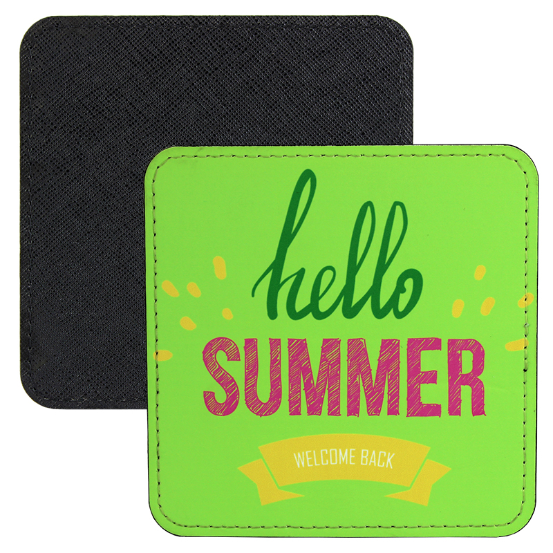 Sublimation Blank PolyLeather Coaster - Square