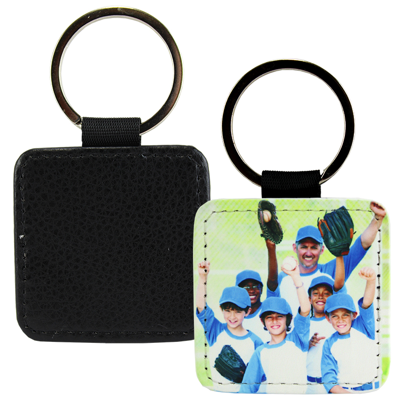 Sublimation Blank PolyLeather Keychain - Square