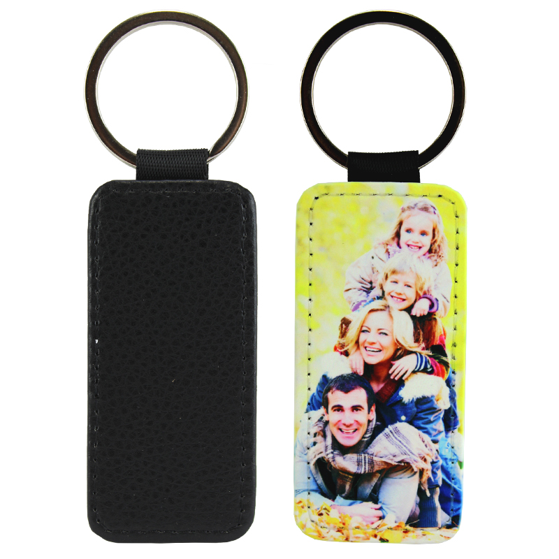 Sublimation Blank PolyLeather Keychain - Rectangle
