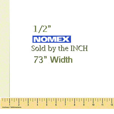 1/2 Thick Nomex® Felt Pad - Sold by the Inch