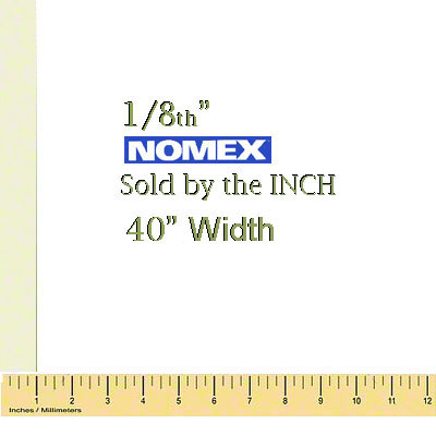 1/8 Thick Nomex® Felt Pad - Order by the inch