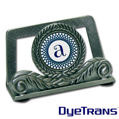 DyeTrans Sublimation Blank Pewter Business Card Holder w/Insert