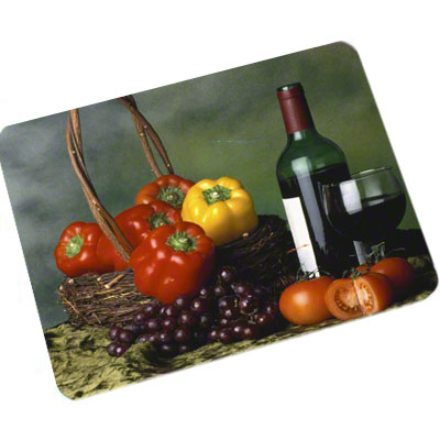 DyeTrans Sublimation Blank Placemat - 10 x 16 x 2.5mm Black Backed