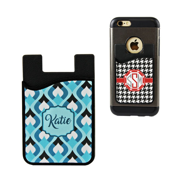 Sublimation Silicone Card Caddy Phone Wallet-Black