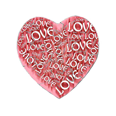 7.5 Heart Magnet Puzzle- 30 Pieces - 5 Pack -Matte