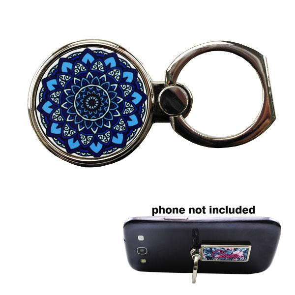DyeTrans Sublimation Blank Ring Stand Phone Accessory  - 1.1875 - Round w/2 Inserts