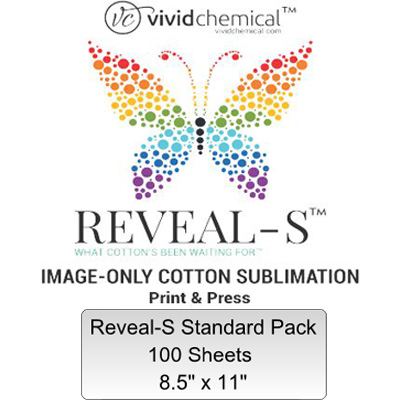 8.5x11 Reveal-S Cotton Sublimation Film- 100 Sheet