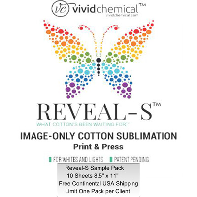8.5x11 Reveal-S Cotton Sublimation Film- 10 Sheets