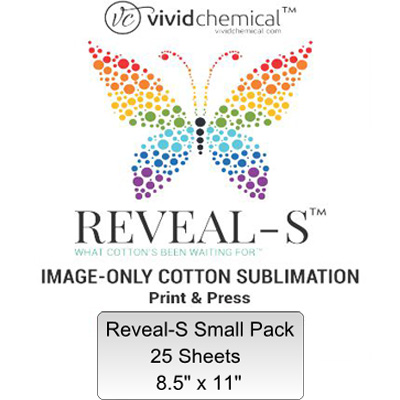 8.5x11 Reveal-S Cotton Sublimation Film- 25 Sheets