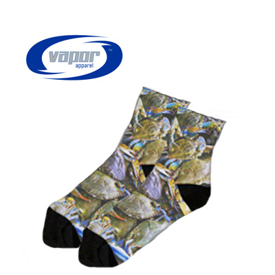 3.5 Cuff Socks White w/Black Heel/Toe- Medium
